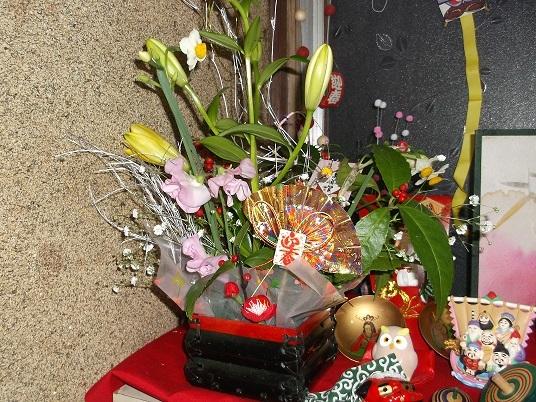 17'お正月の花