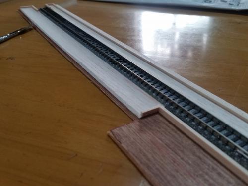 鉄道模型 線路バラスト1