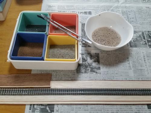 鉄道模型 線路バラスト2