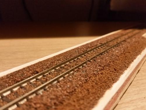 鉄道模型 線路バラスト3