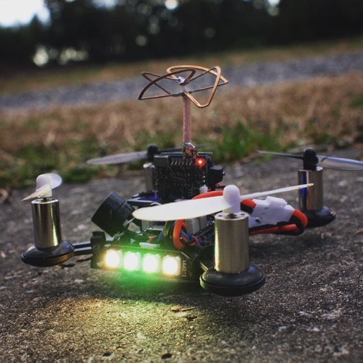 Eachine QX90 改+Active Buzzer+LED Strip Light