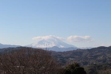 1/22 展望台から富士山  吾妻山公園