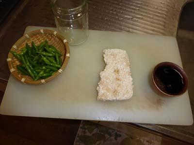 唐辛子と米麹、しょうゆ