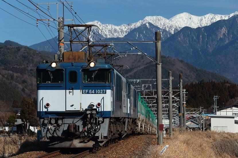 木曽駒ヶ岳が唯一望める街、野尻