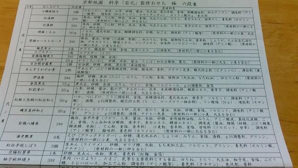 京都祇園 料亭・岩元 監修おせち【極】2017年 (7)