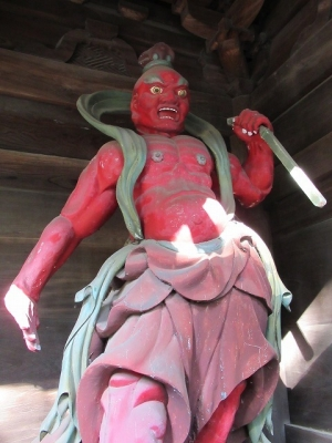 浄真寺山門・金剛力士像(阿形)