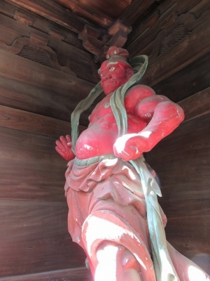 浄真寺山門・金剛力士像(吽形)