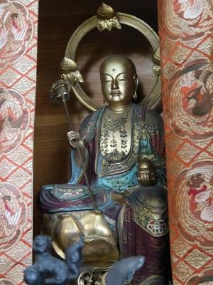 赤分寺・地蔵菩薩半跏像