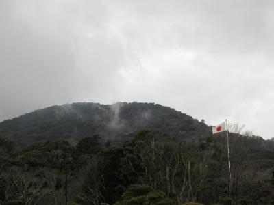 伊勢神宮から見える山