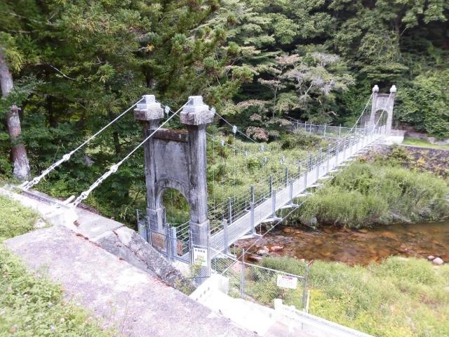丸畑渓谷の吊橋 (2)