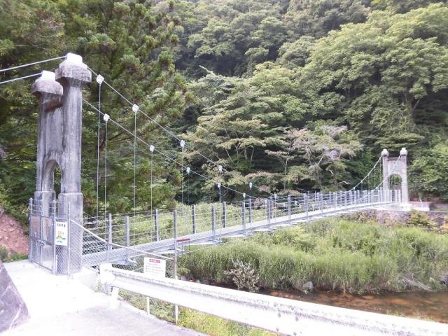 丸畑渓谷の吊橋 (3)