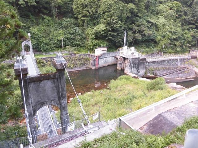 丸畑渓谷の吊橋 (9)