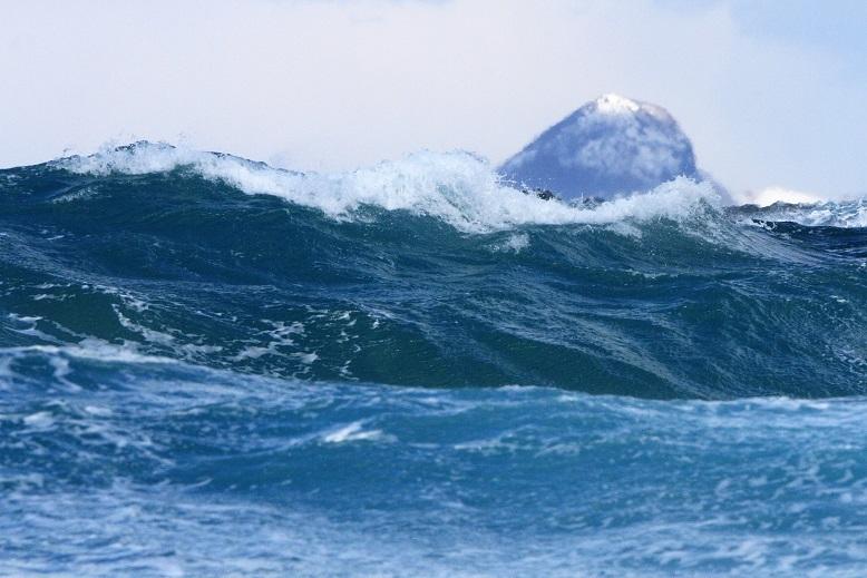 大野亀と波4
