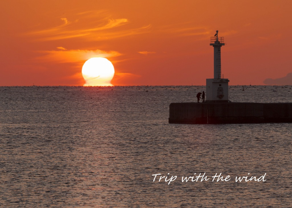 江井島の夕景