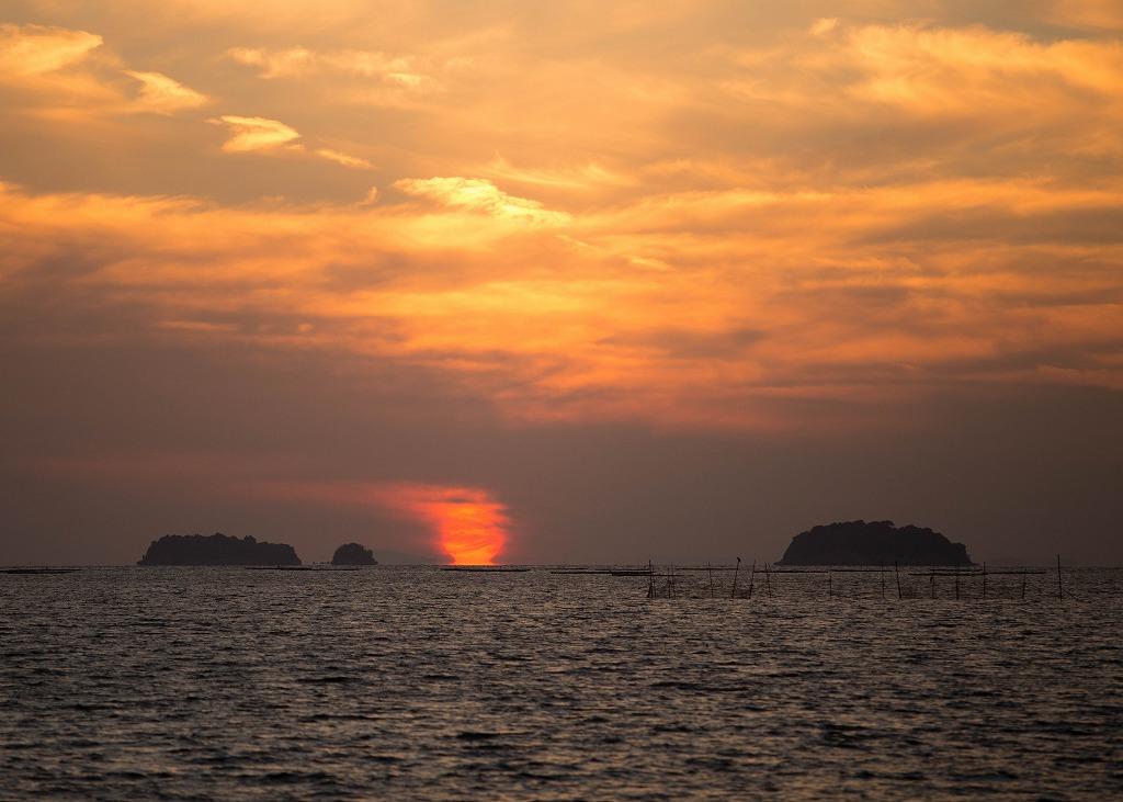 播磨灘の夕景