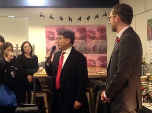 ユ・チュンギョル ケベック州政府ソウル支部代表によるレトロスペクティヴ開会式あいさつ