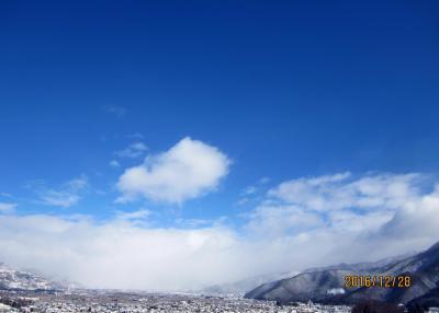 雪が降ったあとの町