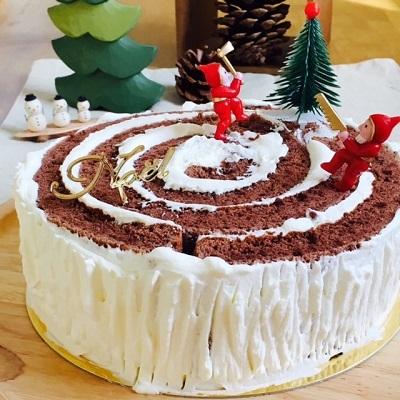 20161214大きな切り株ケーキ