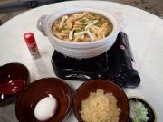 お昼の味噌煮込みうどん(2016/12/31 安良里黄金崎公園ビーチ)
