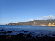 2016年最後の富士山(2016/12/31 安良里黄金崎公園ビーチ)