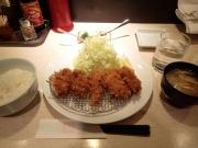 小川町 ポンチ軒 カキフライ定食(2017/2/11)
