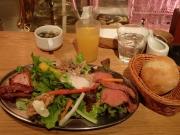 大門 ザ・ロワーライト ビア&キッチン 肉とサラダ(2017/1/23)