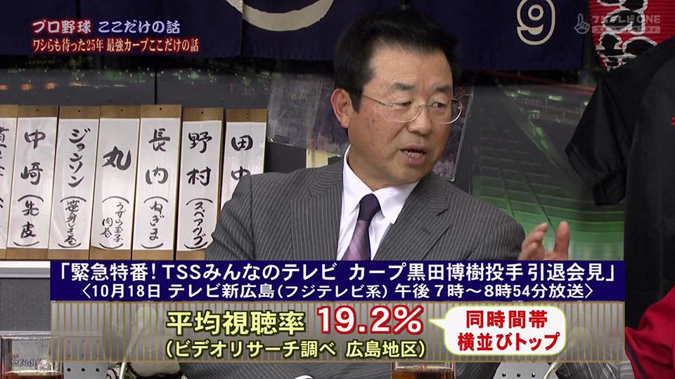 カープ】黒田引退表明会見に地元...