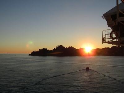 s-ポルトフィーノに沈む夕日
