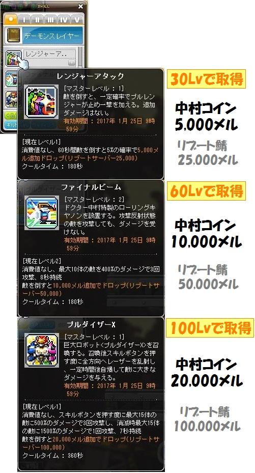 プルレンジャーV2017スキル