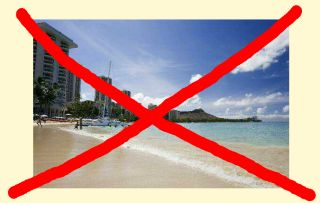 写真:ハワイにすら行けない
