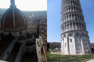 フィレンツェ・ピサの斜塔の写真