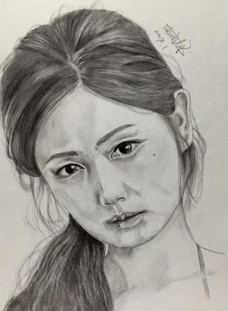 片山萌美 鉛筆画