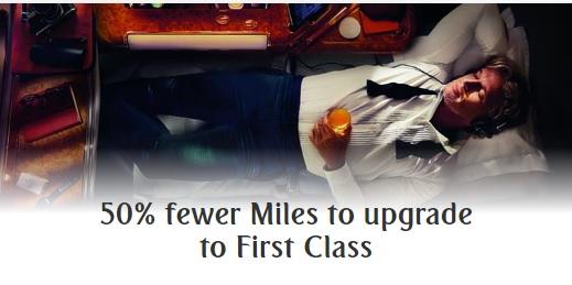 エミレーツ航空でファーストクラスのSkywardsアップグレードが50%OFF
