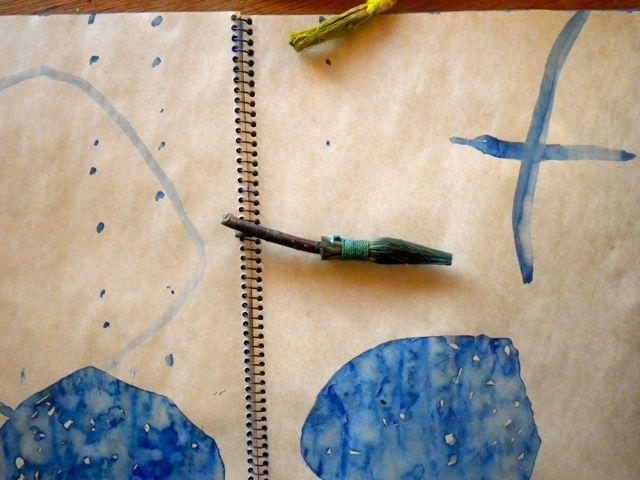竹の筆・青