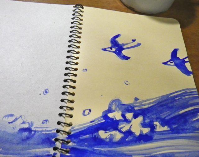 竹の筆・千鳥