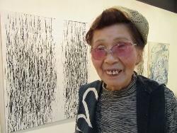 80歳の女性画家