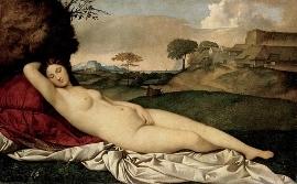 ジョルジョーネ、眠れるヴィーナス(1510-1511年頃)