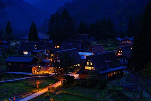 世界遺産・五箇山 相倉集落の夜景