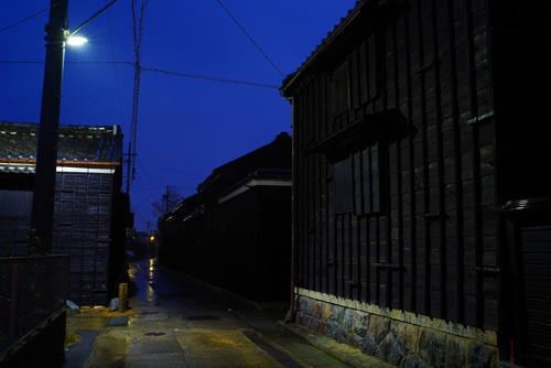 美浜町野間集落の夜明け
