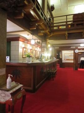 日光金谷ホテルフロント