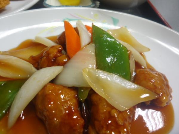 26.11/11 東海園・酢豚定食