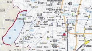 佐鳴湖西岸地図