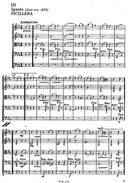 レスピーギ古代舞曲とアリア第3楽章