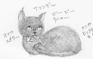 moguサン猫の絵