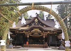 香取神宮拝殿と茅の輪