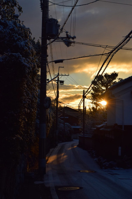 日の出と共に