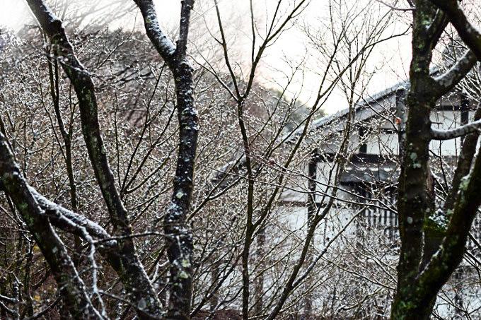 シルエット雪景色