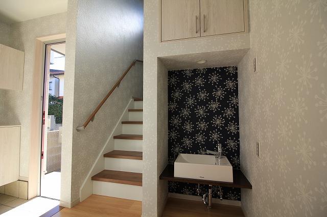 手洗いと階段アップ