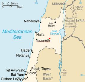 ナザレの位置