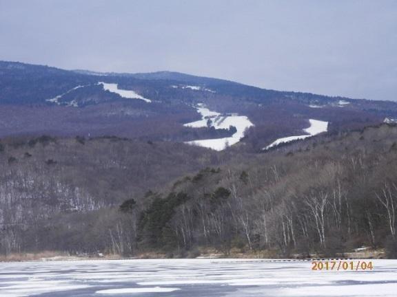 冬季 バラギ湖